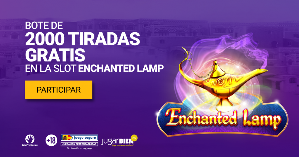 2.000 tiradas gratis enchanted lamp slot