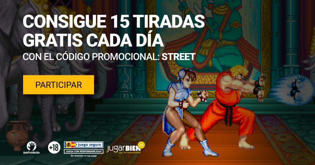 15 putaran gratis setiap hari untuk slot Street Fighter